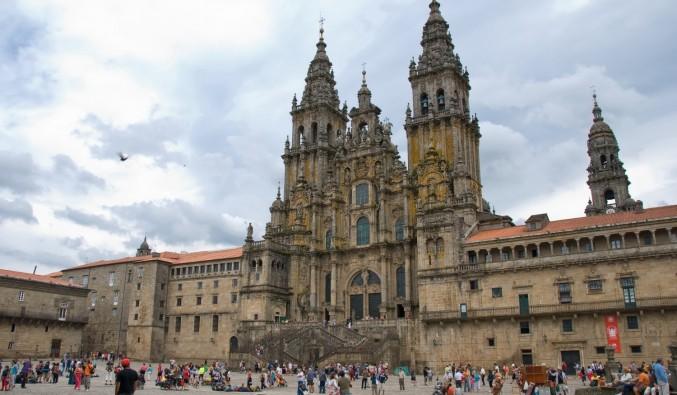 Vista-fachada-obradoiro-catedral-de-Santiago