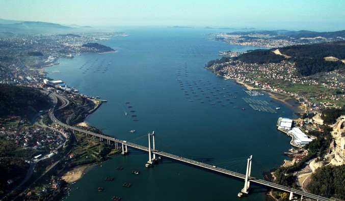 Image de la Vue de Ría de Vigo pont de Rande