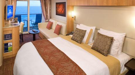Imagen de un Camarote con balcón del barco Celebrity Silhouette