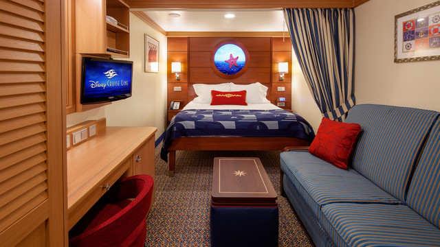 Imagen de un Camarote interior del barco Disney Dream