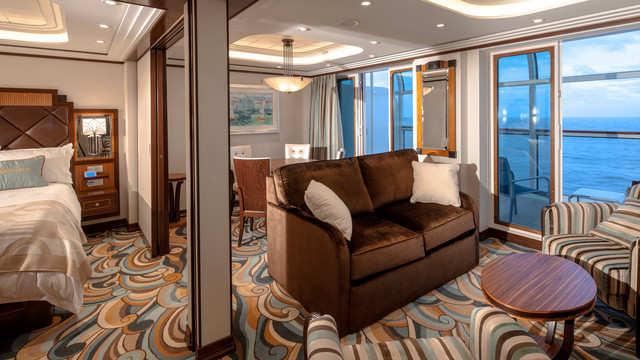 Imagen de una Suite del barco Disney Dream