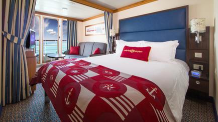 Imagen de un Camarote con balcón del barco Disney Magic