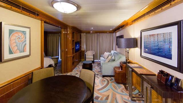 Imagen de una Suite del barco Disney Wonder