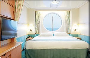 Imagen de un Camarote con vistas al mar del barco Mariner of the Seas