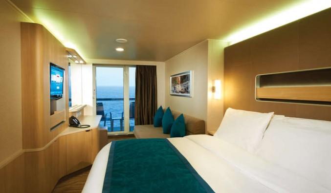 Imagen de un Camarote con balcón del barco Norwegian Breakaway de Norwegian Cruise Line