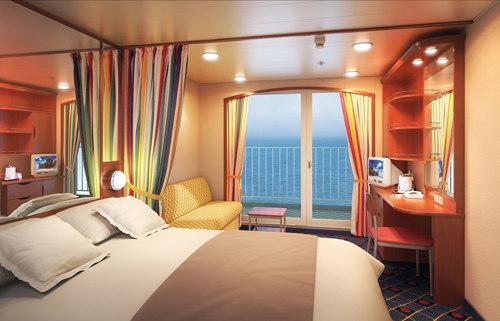 Imagen de un Camarote con balcón del barco Norwegian Sun