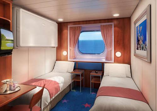 Imagen de un Camarote con vistas al mar del barco Norwegian Dawn de Norwegian Cruise Line