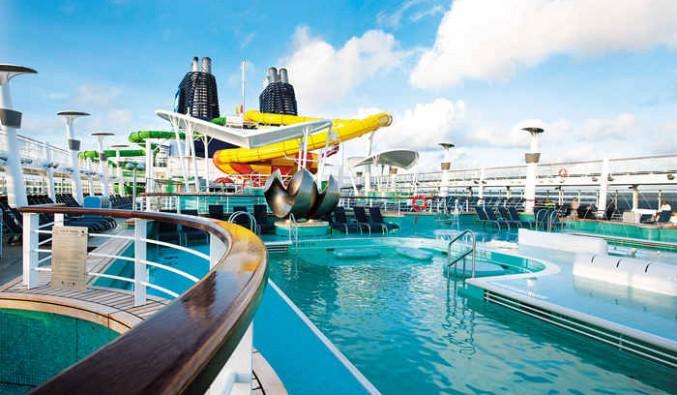 Imagen del Aqua Park del barco Norwegian Epic