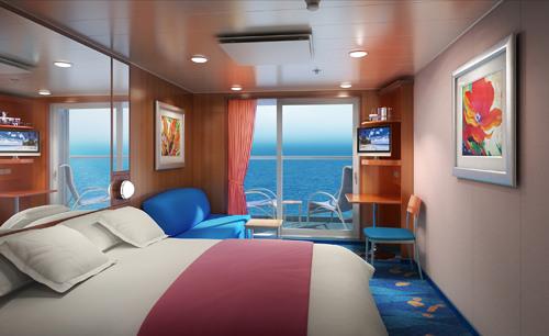 Imagen de un Camarote con balcón del barco Norwegian Gem