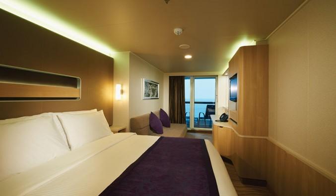 Imagen de una Mini Suite del barco Norwegian Getaway