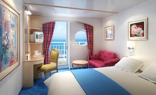 Imagen de un Camarote con balcón del barco Norwegian Sky
