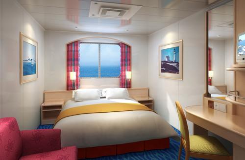 Imagen de un Camarote con vistas al mar del barco Norwegian Sky