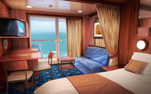 Imagen de una Mini Suite del barco Norwegian Star