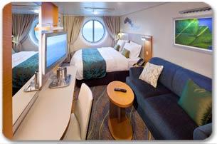 Imagen de un Camarote con vistas al mar del barco Oasis of the Seas