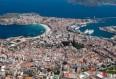 Imagen aérea de la bahía de A Coruña