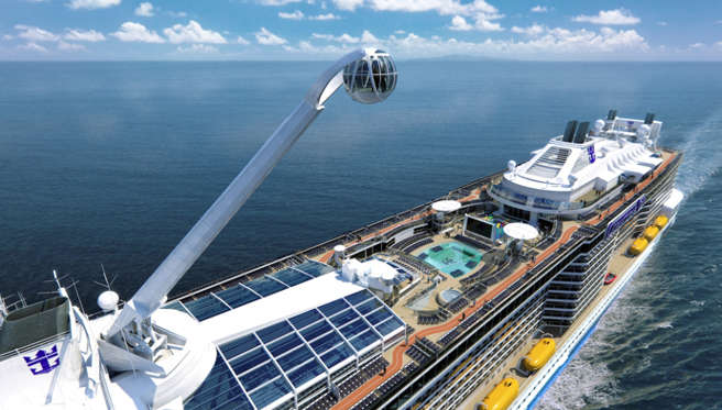 Acuerdo Royal Caribbean y WWF. Vista barco Royal Caribbean