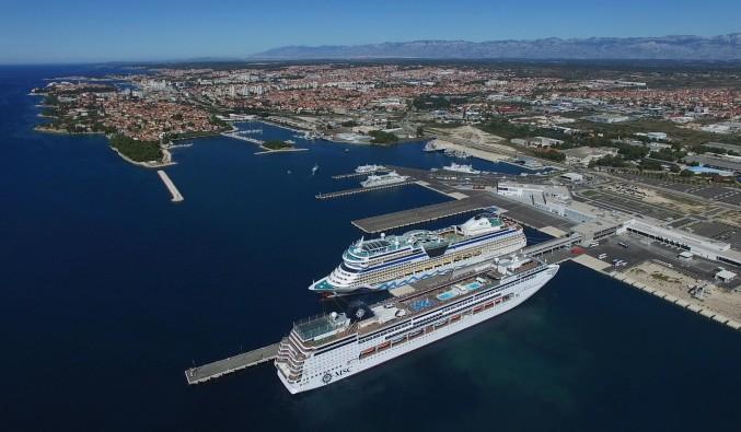 puerto-de-cruceros-zadar-croacia-Gazenica Port airphoto