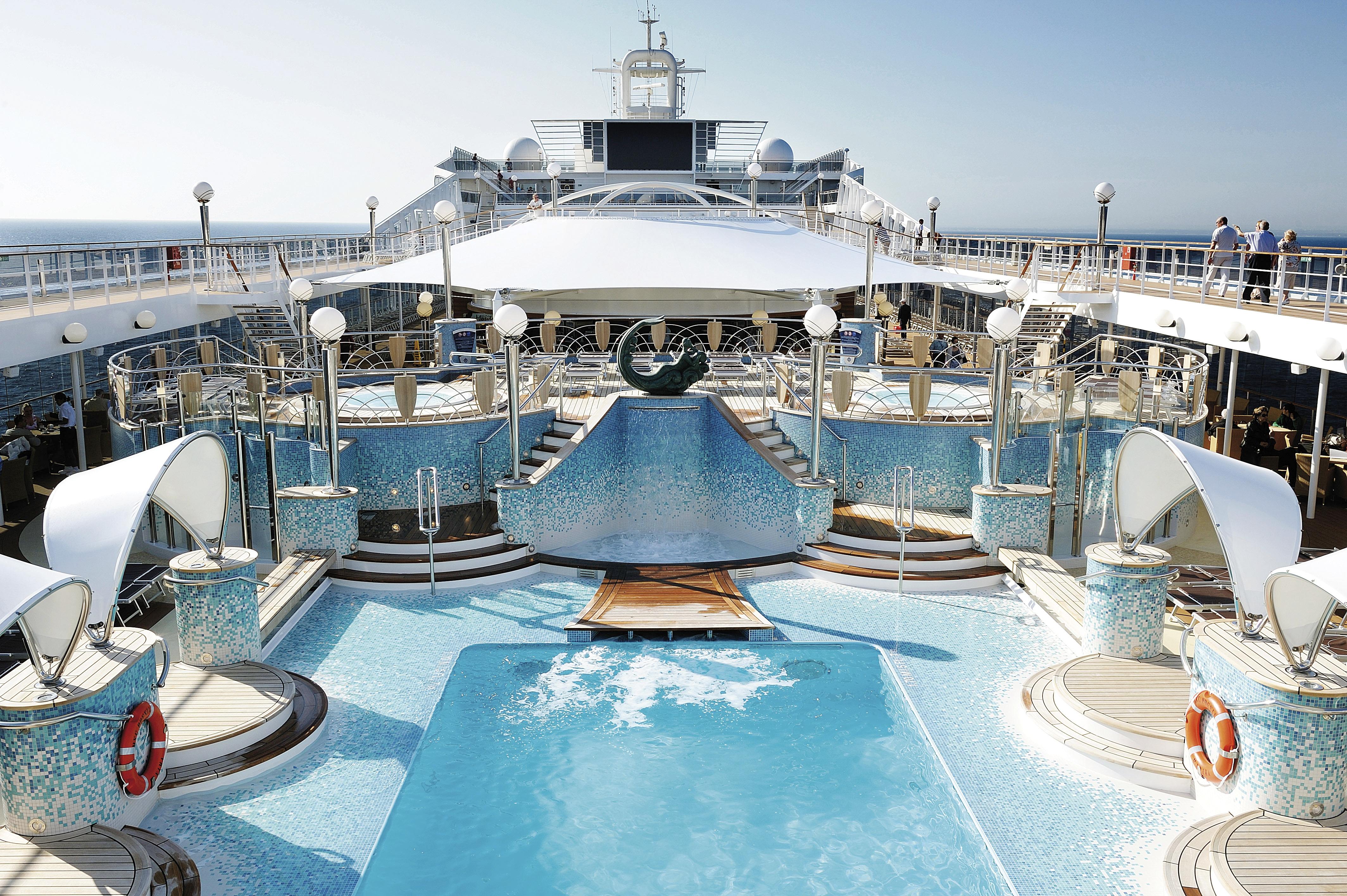 Una de las piscinas de a bordo de la flota de MSC Cruceros