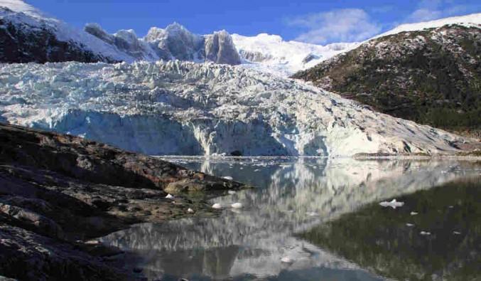 Imagen del Glaciar Pia del barco Stella Australis