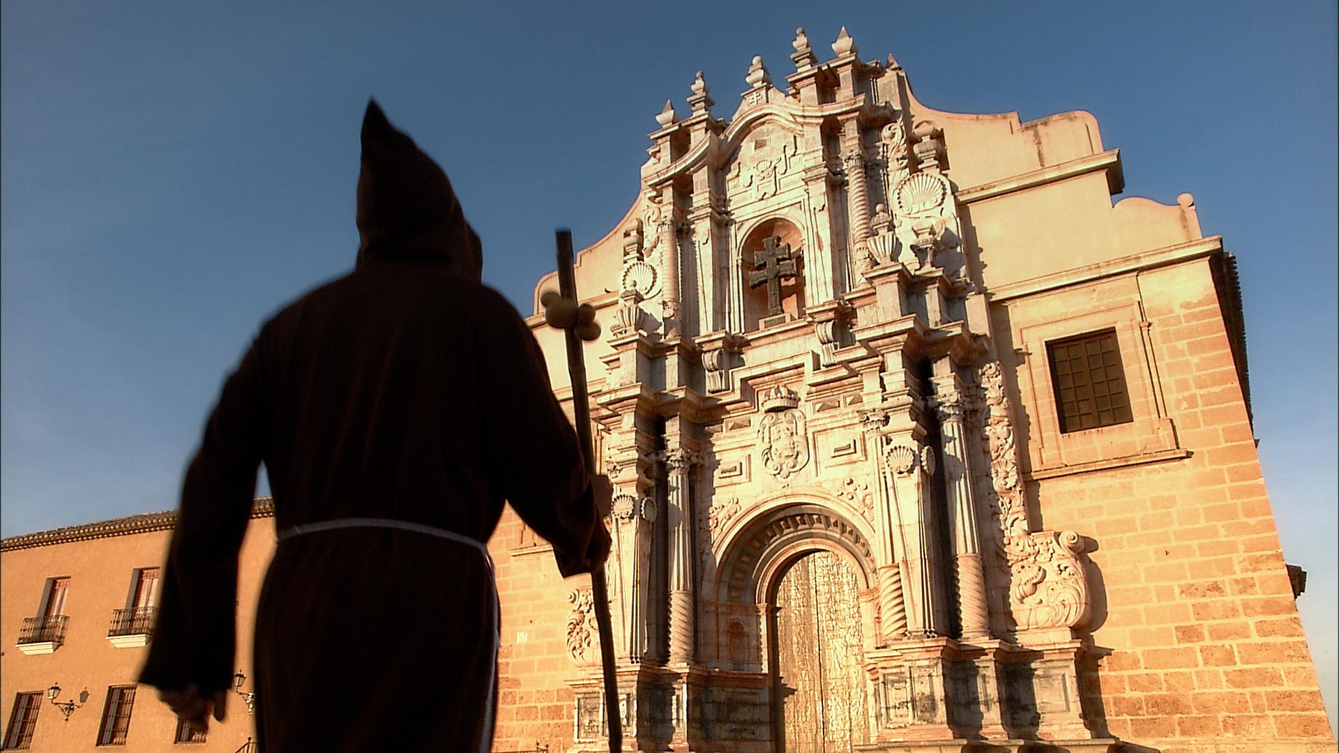 Peregrino en el Santuario de Caravaca de la Cruz.