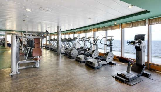 Imagen del gimnasio a bordo del barco Msc Armonia