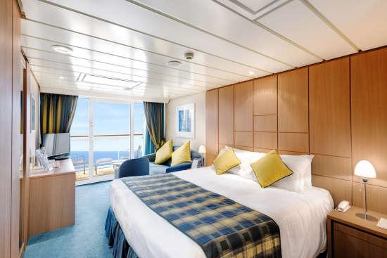 Imagen de una Suite a bordo del Msc Armonia