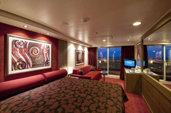 Imagen de una Suite del barco MSC Magnifica