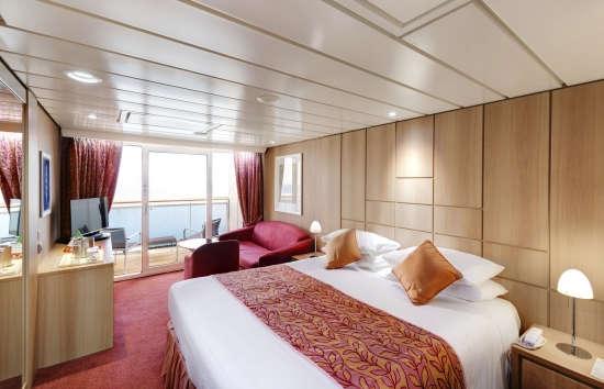 Imagen de una Suite del barco MSC Sinfonia