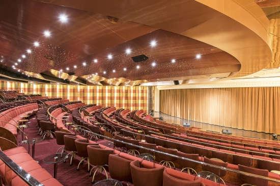 Imagen del Teatro San Carlo del barco MSC Sinfonia