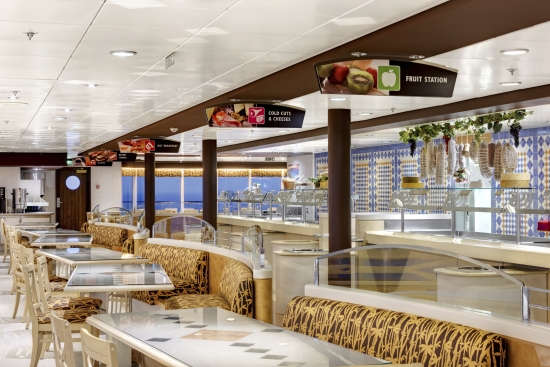 Imagen de la Terraza Buffet del barco MSC Sinfonia