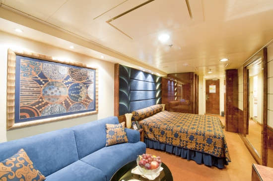 Imagen de una Suite del barco MSC Splendida
