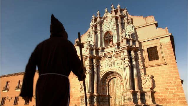 Pèlerin au Sanctuaire de Caravaca de la Cruz.