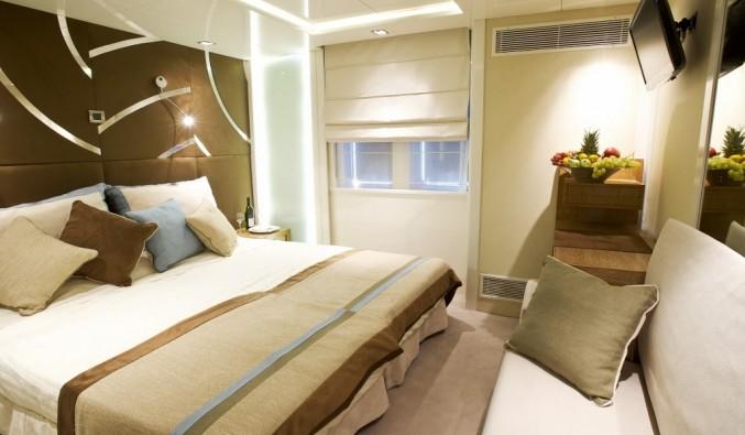 Imagen de un Camarote a bordo del barco voyager de Variety Cruises