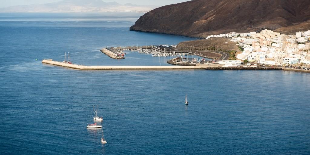 Vista de la Bahía de Gran Tarajal, en Fuerteventura. Foto Patronato de Turismo de Fuerteventura.