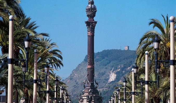 Port de Barcelona. Vista del mirador de colom