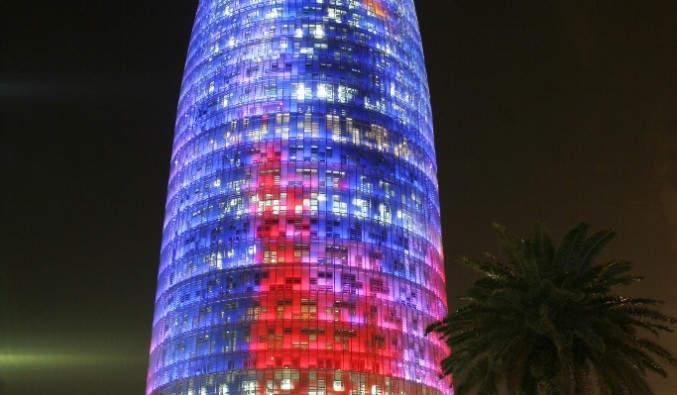 image de Port de Barcelone, vue de la tour agbar