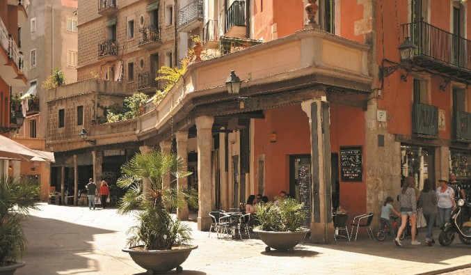 image de port de Barcelone, vue du Born