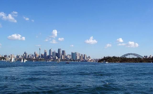 Image de croisiere australie vue sydney depuis la mer