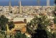 image de port de Barcelone, vue du Tibidabo