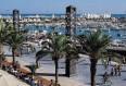 image de port de Barcelone. vue du port olympique
