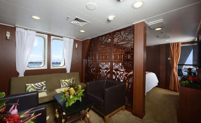 Imagen de una Royal Suite del barco Aranui 5