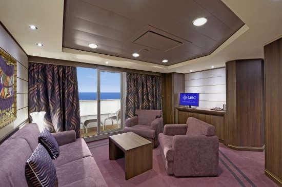 Imagen de una Suite del barco MSC Preziosa