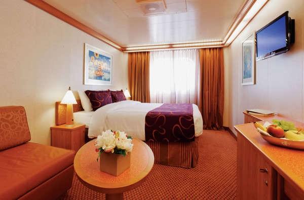 Imagen de un Camarote Exterior del barco Costa Fascinosa de Costa Cruceros