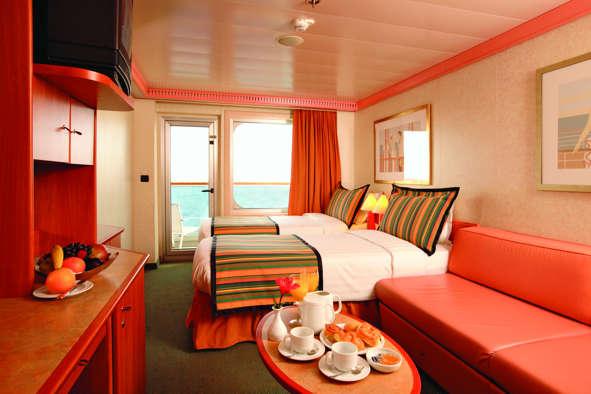 Imagen de un Camarote Exterior del barco Costa Fortuna