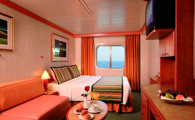 Imagen de un Camarote con vistas al mar del barco Costa Atlántica