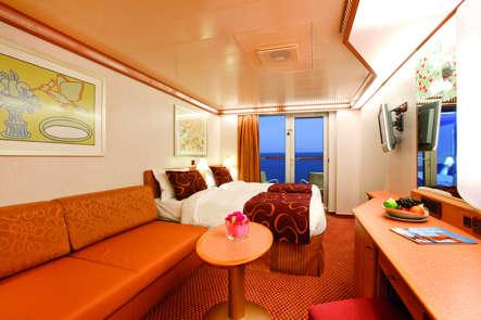 Imagen de un Camarote con balcón del barco Costa Deliziosa de Costa Cruceros