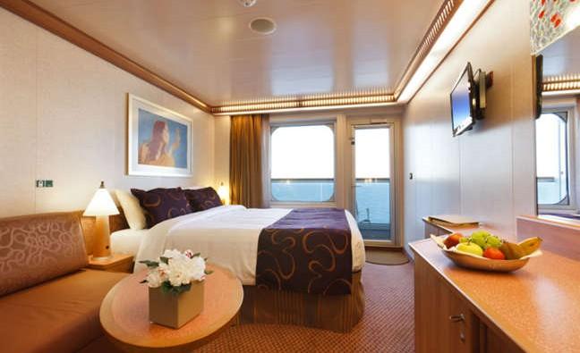 Imagen de un Camarote con balcón del barco Costa Favolosa