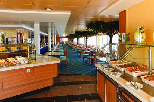 Imagen del Buffet Vernazza del barco Costa neoRiviera