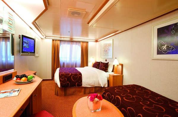 Imagen de un Camarote Exterior del Barco Costa Pacifica