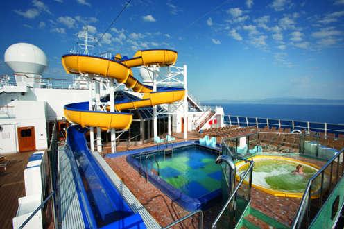 Imagen del Tobogán Acuático del Barco Costa Pacifica